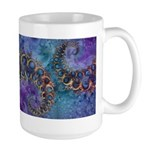 Purple Fractal Pattern Large Mug