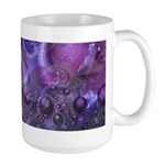 Purple Fractal Image Large Mug
