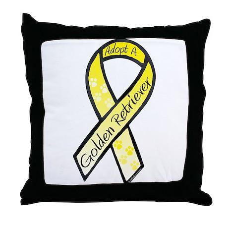 Golden Ribbon C Throw Pillow
