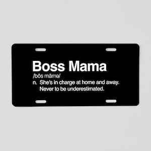 Boss Mama Aluminum License Plate