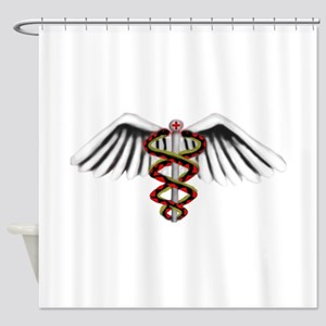 Medical Alert Symbol Shower Curtain