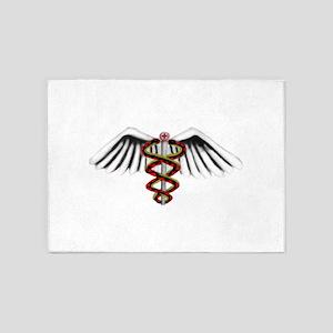 Medical Alert Symbol 5'x7'Area Rug