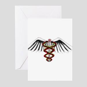Medical Alert Symbol Greeting Cards