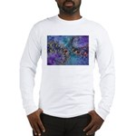 Purple Fractal Pattern Long Sleeve T-Shirt