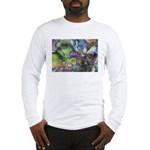 Purple Fractal Design Long Sleeve T-Shirt