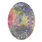 Pretty Pastels Fractal Image Keepsake (Oval)