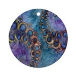 Purple Fractal Pattern Keepsake (Round)