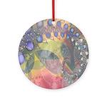 Pretty Pastels Fractal Image Keepsake (Round)