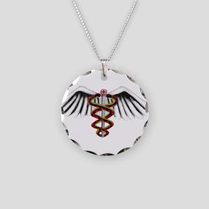 Medical Alert Symbol Necklace Circle Charm