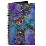 Purple Fractal Pattern Journal