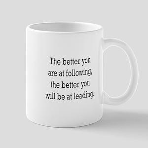 Leading Following Mugs