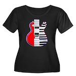 Tonality Women's Plus Size Scoop Neck Dark T-Shirt