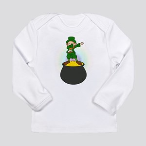 Funny Dabbing Leprechaun St Pa Long Sleeve T-Shirt