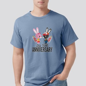 2nd Anniversary Couple Bunnies T-Shirt