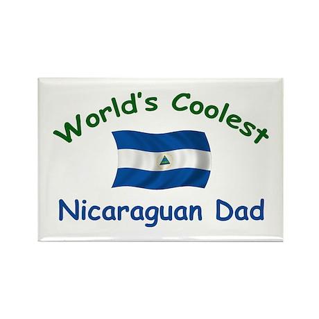 Coolest Nicaraguan Dad Rectangle Magnet