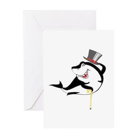 Top-Hat Shark Greeting Card