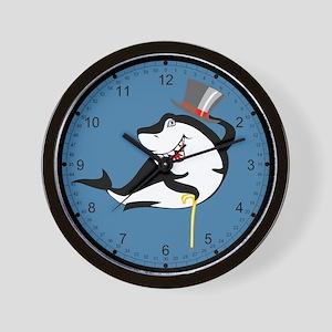 Top-Hat Shark Wall Clock