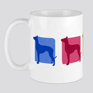 Color Row Pharaoh Hound Mug