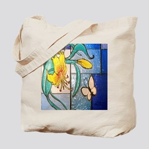 Lily and Butterfly Tote Bag