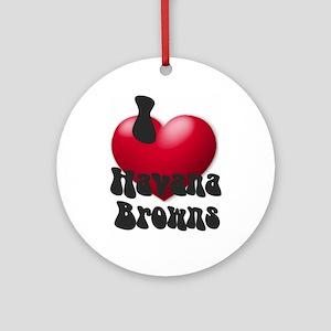 """""""I Love H-Browns"""" Keepsake (Round)"""
