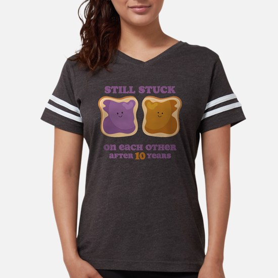 Pbj 10th Anniversary Womens Football Shirt T-Shirt