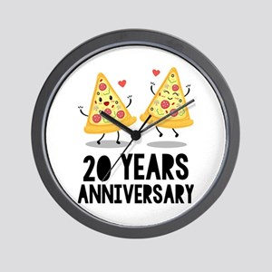 20th Anniversary Funny Pizza Wall Clock