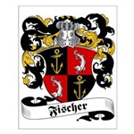 Fischer Family Crest Small Poster