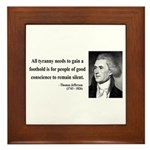 Thomas Jefferson 4 Framed Tile