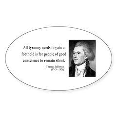 Thomas Jefferson 4 Oval Decal