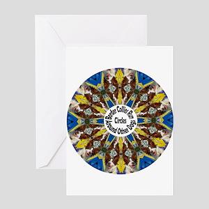 Red Border Collie Kaleidoscope Greeting Card