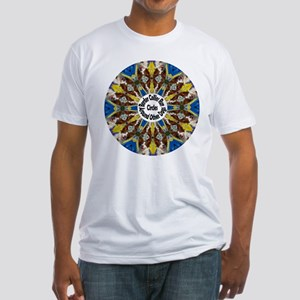 Red Border Collie Kaleidoscope Fitted T-Shirt
