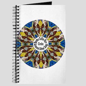 Red Border Collie Kaleidoscope Journal
