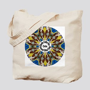 Red Border Collie Kaleidoscope Tote Bag