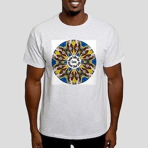 Red Border Collie Kaleidoscope Light T-Shirt