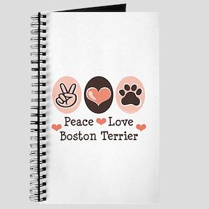 Peace Love Boston Terrier Journal