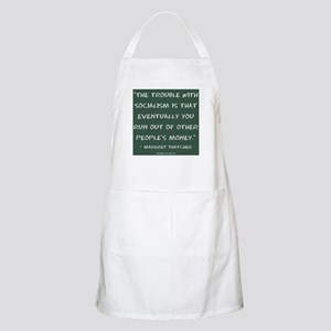 The trouble with socialism Light Apron