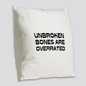 Broken bone Burlap Throw Pillow