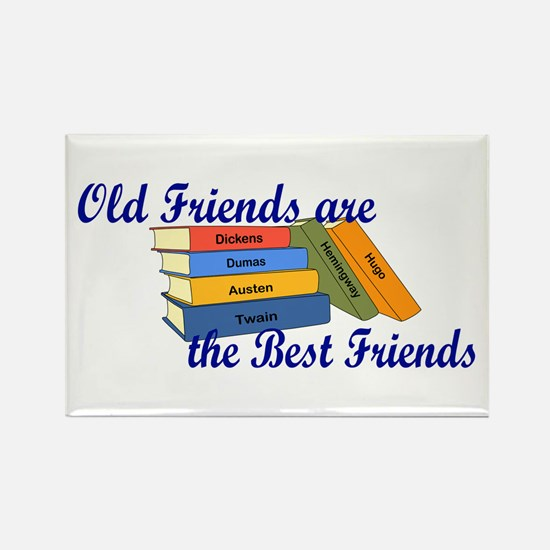 Books Best Friends Rectangle Magnet