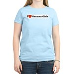 I loves German Girls Women's Pink T-Shirt