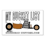 BUCKET LIST Rectangle Sticker
