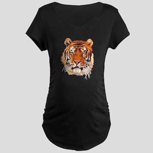 Tiger Head Maternity Dark T-Shirt
