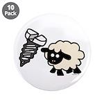 "Screw Ewe 3.5"" Button (10 pack)"