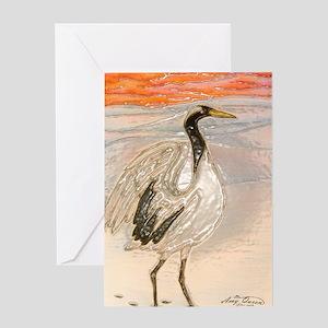 Snow crane Greeting Card