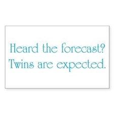 Twins Expected - Rectangle Sticker