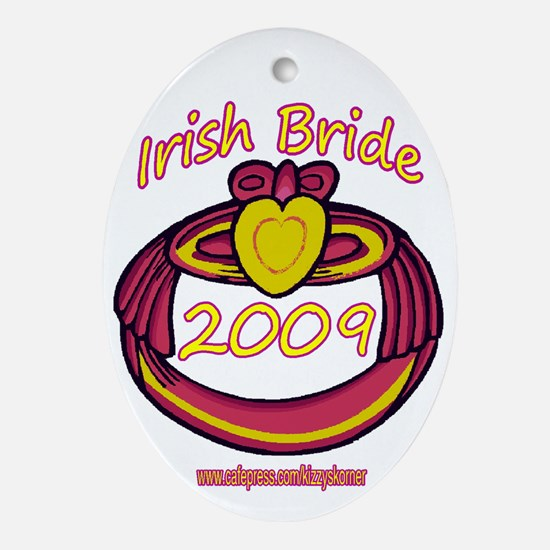 PINK CLADDAGH BRIDE 2009 Oval Ornament