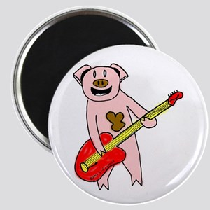 "Pig Playing Guitar 2.25"" Magnet (100 pack)"