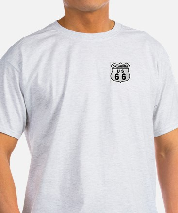 Oklahoma Route 66  Ash Grey T-Shirt