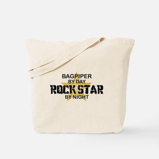 Bagpiper Rock Star Tote Bag