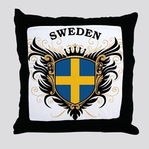 Sweden Throw Pillow