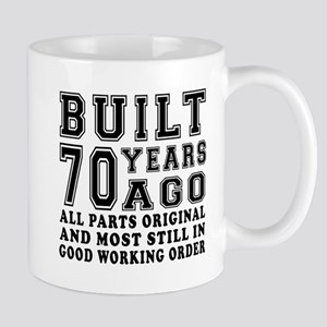 Built 70 Years 11 oz Ceramic Mug